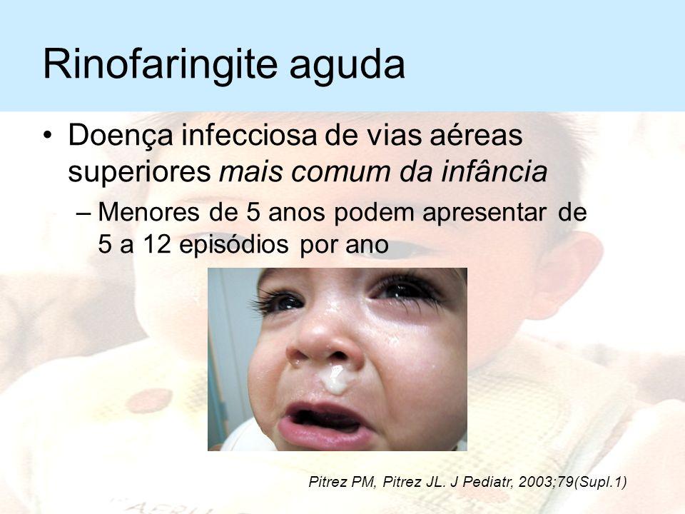 Infecção vias aéreas superiores Manifestações clínicas –De acordo com local acometido Rinofaringite aguda Sinusite aguda Faringoamigdalite Laringite v