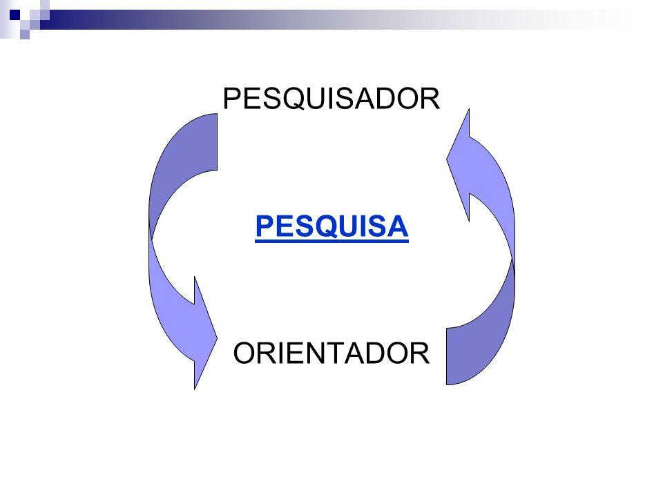 PESQUISADOR PESQUISA ORIENTADOR