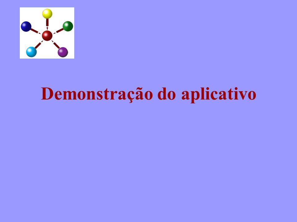 Demonstração do aplicativo