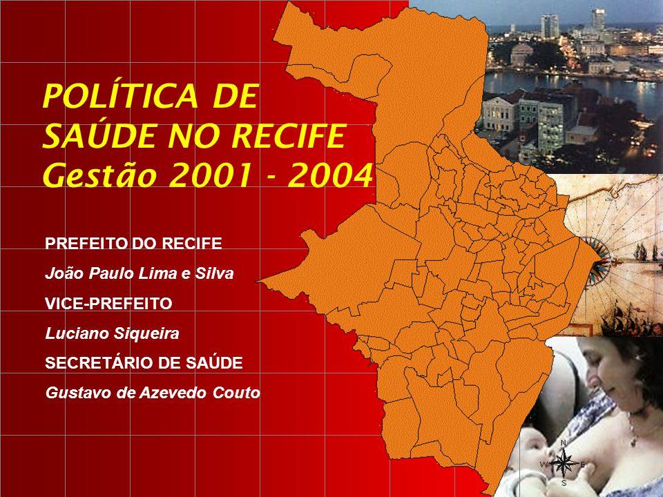 PREFEITO DO RECIFE João Paulo Lima e Silva VICE-PREFEITO Luciano Siqueira SECRETÁRIO DE SAÚDE Gustavo de Azevedo Couto POLÍTICA DE SAÚDE NO RECIFE Ges