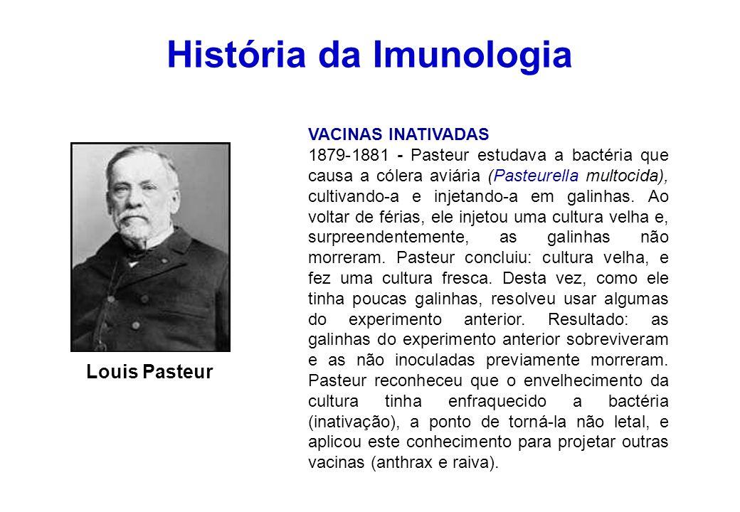 História da Imunologia Elie Metchnikoff IMUNIDADE CELULAR 1883 - Teoria dos fagócitos.