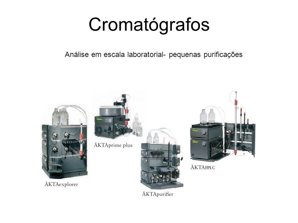 Cromatógrafos Análise em escala laboratorial- pequenas purificações