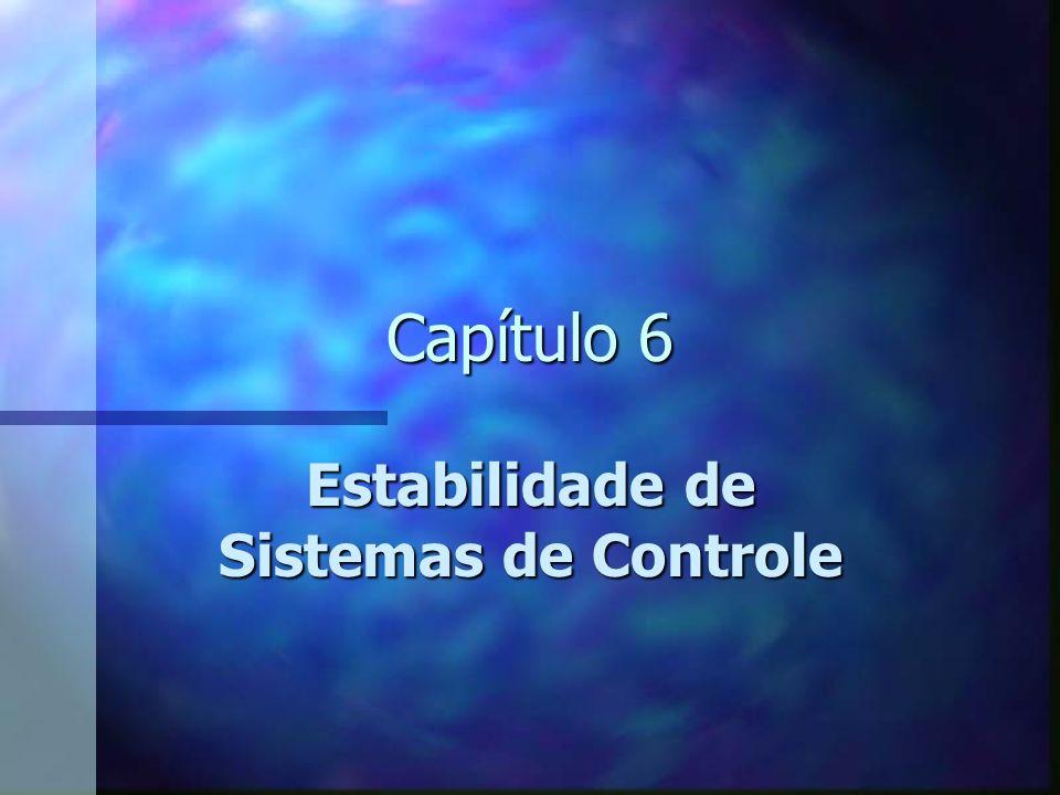 Estabilidade Assintótica de Sistemas de Dados Contínuos com Entrada nula Estabilidade marginal ou Instabilidade marginal = quando a equação característica possui raízes no eixo j do plano s Exceção, quando o sistema for projetado para ser oscilante