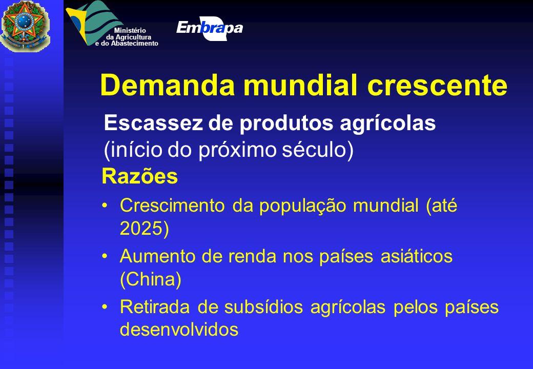 ÍNDICE DE INTENSIDADE DE PESQUISA AGRÍCOLA (%) - 1997 INVESTIMENTOS EM PESQUISA / VALOR BRUTO DO PRODUTO AGRÍCOLA PAÍSES DESENVOLVIDOS 2,3 EUA 3,4 REI