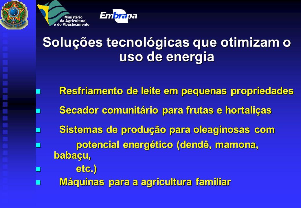 Uso racional de energia Enfoque da Embrapa Enfoque da Embrapa Aumentar a produtividade por unidade de insumo energético unidade de insumo energético M