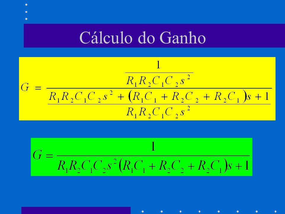 Cálculo do Ganho
