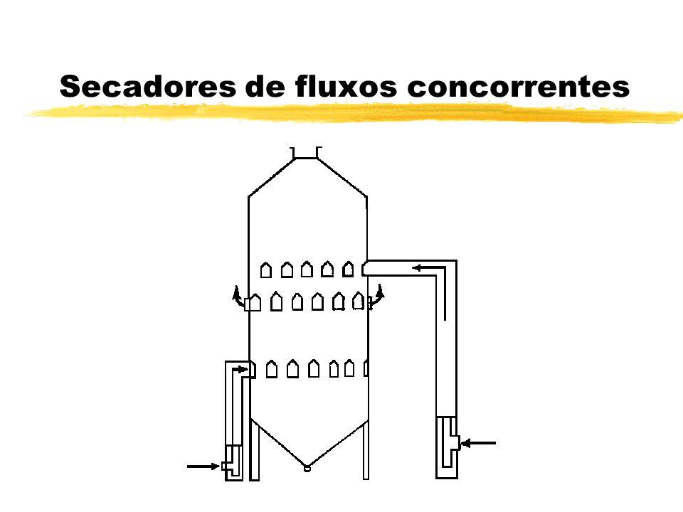 Secadores de fluxos concorrentes