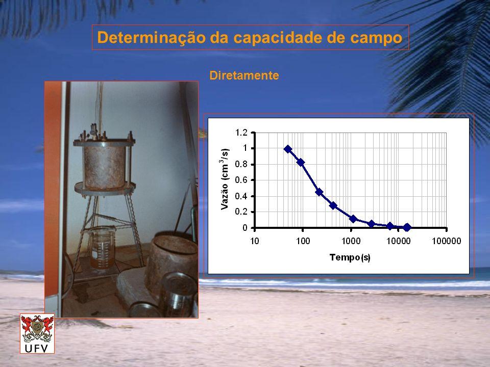 Determinação da capacidade de campo Diretamente