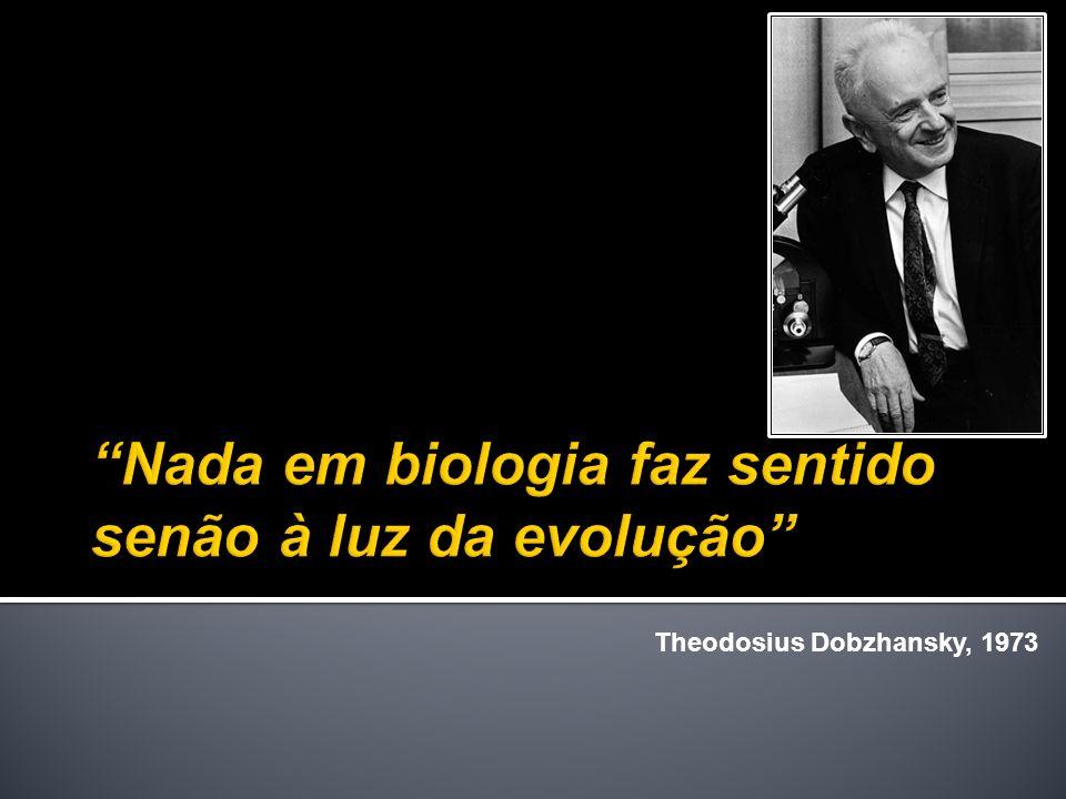 Biologia depois do darwinismo – ciência que estuda padrões e processos.