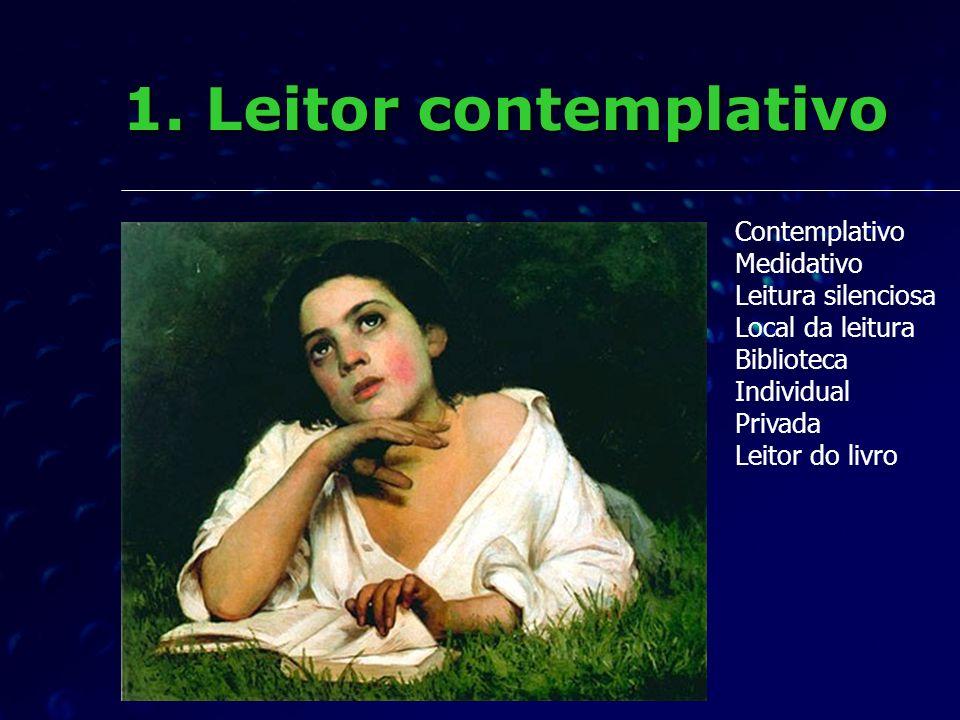 Dominante a partir do século 16 Dominante a partir do século 16 Leitura individual, silenciosa, de foro privado, relação de intimidade.