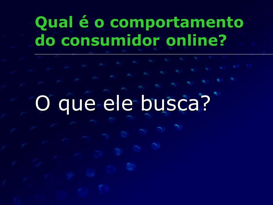 Qual é o comportamento do consumidor online? O que ele busca?
