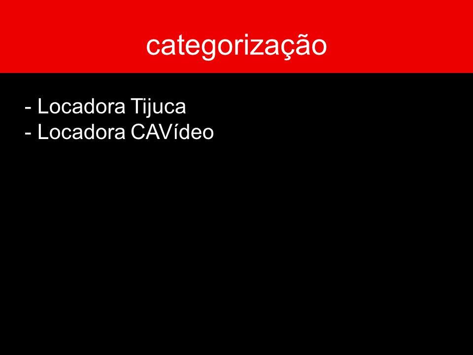 - Locadora Tijuca - Locadora CAVídeo