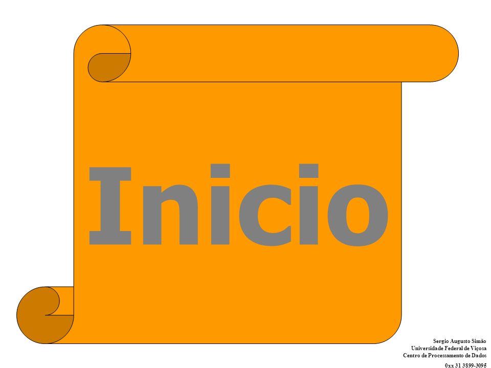Sergio Augusto Simão Universidade Federal de Viçosa Centro de Processamento de Dados 0xx 31 3899-3095 Inicio