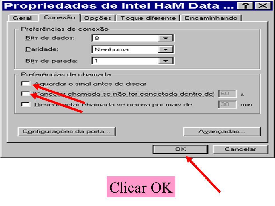 Clicar OK