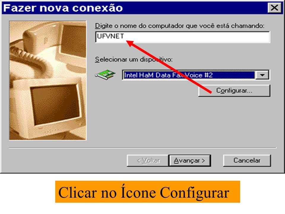 Clicar no Ícone Configurar