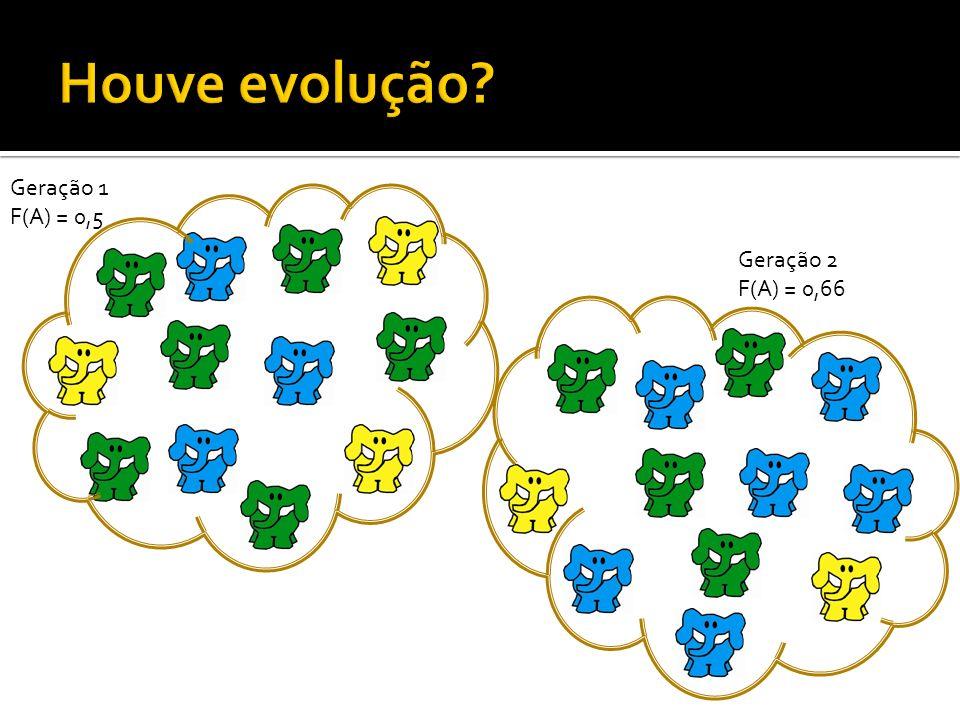 Geração 1 F(A) = 0,5 Geração 2 F(A) = 0,66