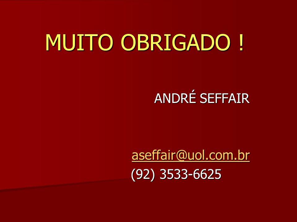 ANDRÉ SEFFAIR aseffair@uol.com.br (92) 3533-6625 MUITO OBRIGADO !