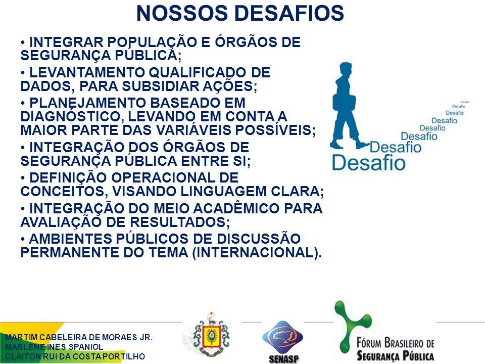 NOSSOS DESAFIOS MARTIM CABELEIRA DE MORAES JR.