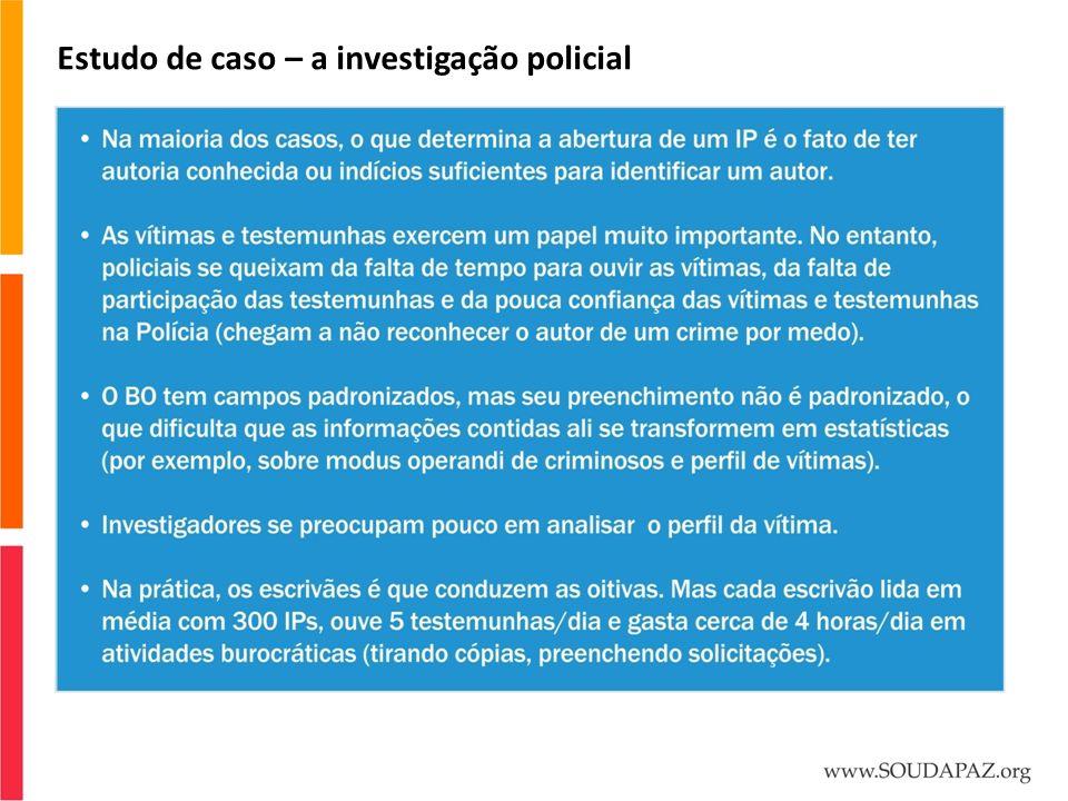 Estudo de caso – a investigação policial