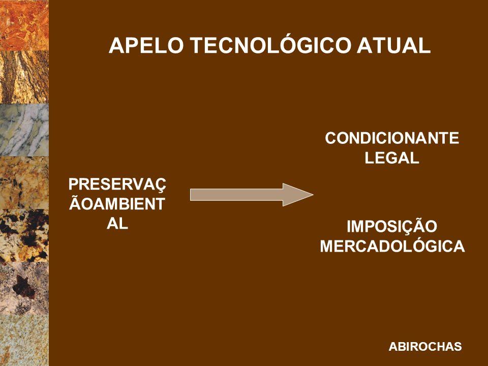 ABIROCHAS AGREGAÇÃO TECNOLÓGICA AUMENTO DE PRODUTIVIDAD E E QUALIDADE REDUÇÃO DE PREÇOS E PRAZOS