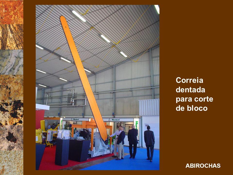 ABIROCHAS Correia dentada para corte de bloco