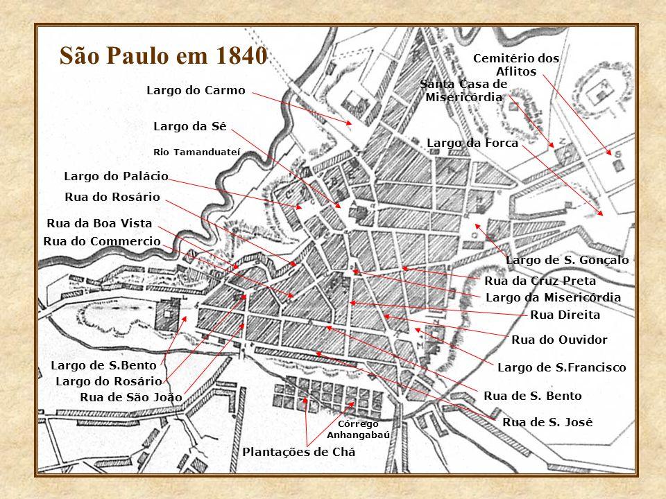 Rio Tamanduateí Córrego Anhangabaú Largo da Sé Largo do Palácio Rua Direita Rua de S.