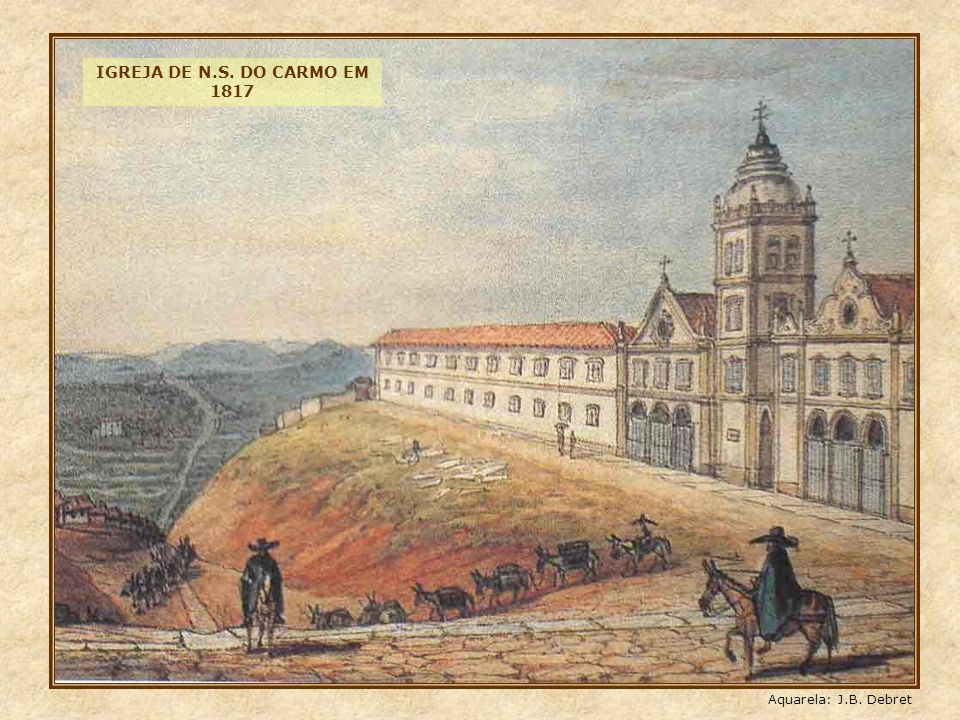 Nesta foto de 1902, o final da rua Direita, e em primeiro plano o antigo viaduto do Chá, com seu passeio em tábuas.