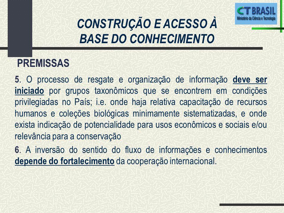 CONSTRUÇÃO E ACESSO À BASE DO CONHECIMENTO 5.