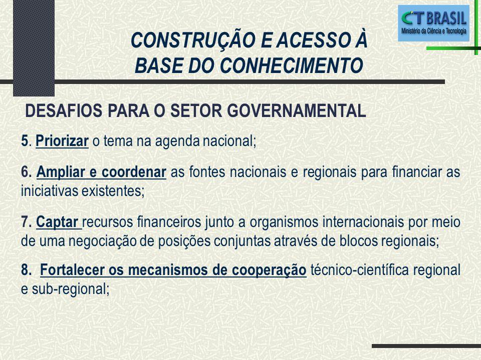 CONSTRUÇÃO E ACESSO À BASE DO CONHECIMENTO DESAFIOS PARA O SETOR GOVERNAMENTAL 9.