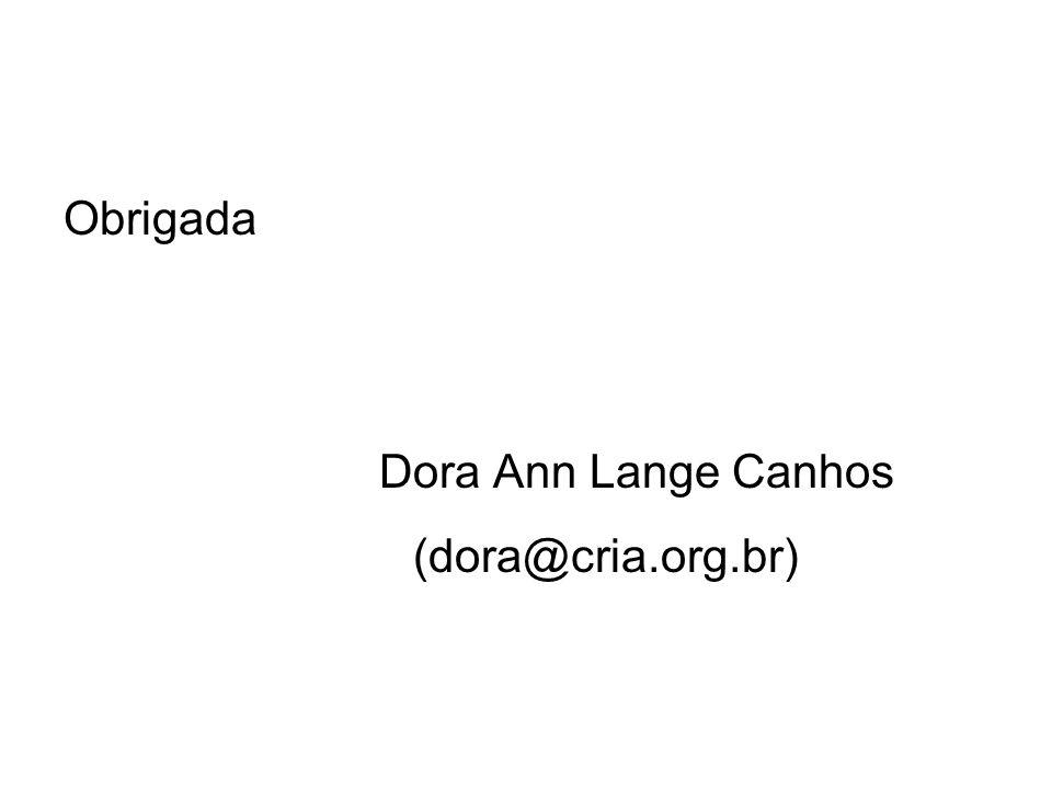 Obrigada Dora Ann Lange Canhos (dora@cria.org.br)