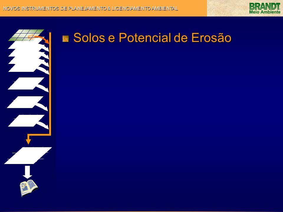 NOVOS INSTRUMENTOS DE PLANEJAMENTO & LICENCIAMENTO AMBIENTAL Solos e Potencial de Erosão
