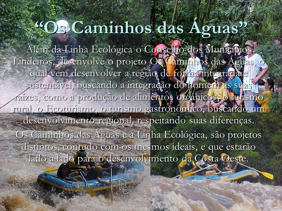 Os Caminhos das Águas Além da Linha Ecológica o Conselho dos Municípios Lindeiros, desenvolve o projeto Os Caminhos das Águas, o qual vem desenvolver