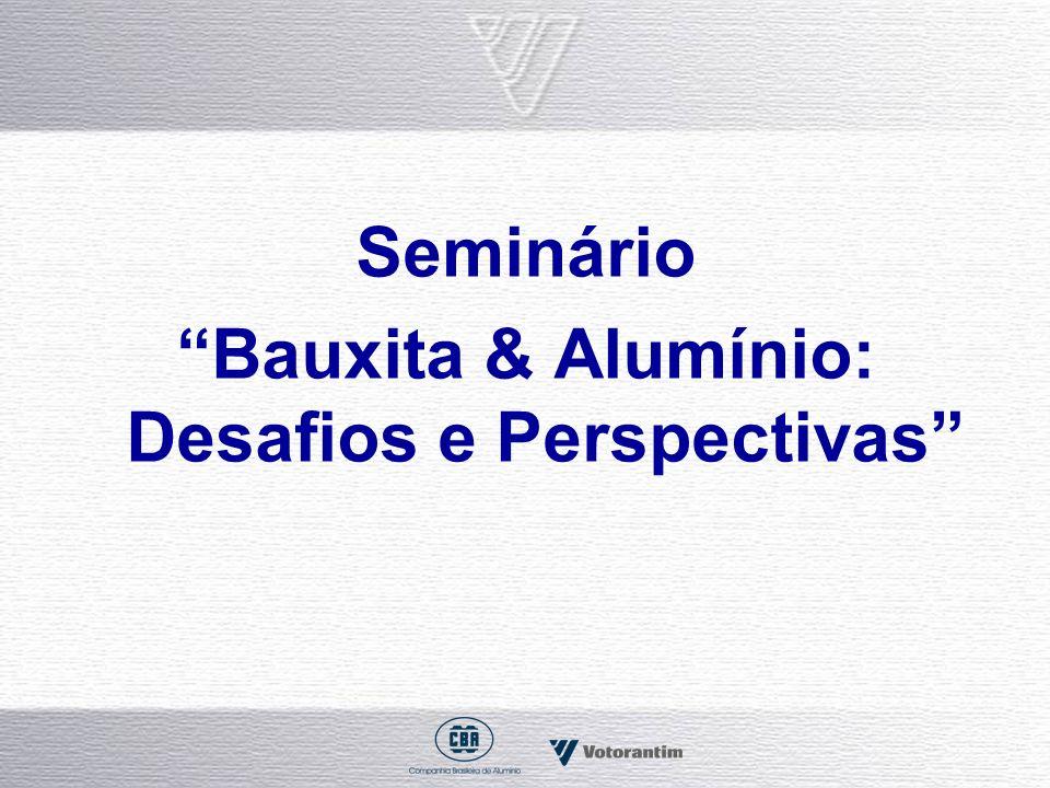 Seminário Bauxita & Alumínio: Desafios e Perspectivas