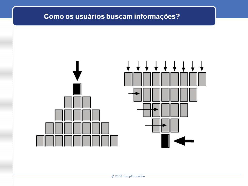 © 2008 JumpEducation Como os usuários buscam informações?