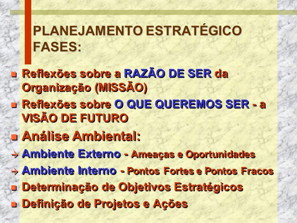 Estrutura do PEIEstratégiasEstratégias Missão / Visão / Valores Objetivos Estratégicos Ações Estratégicas Plano de Ação OrçamentoOrçamento (Validação) COMITÊ ESTRATÉGICO UNIDADES ACOMPANHAMENTOAVALIAÇÃO