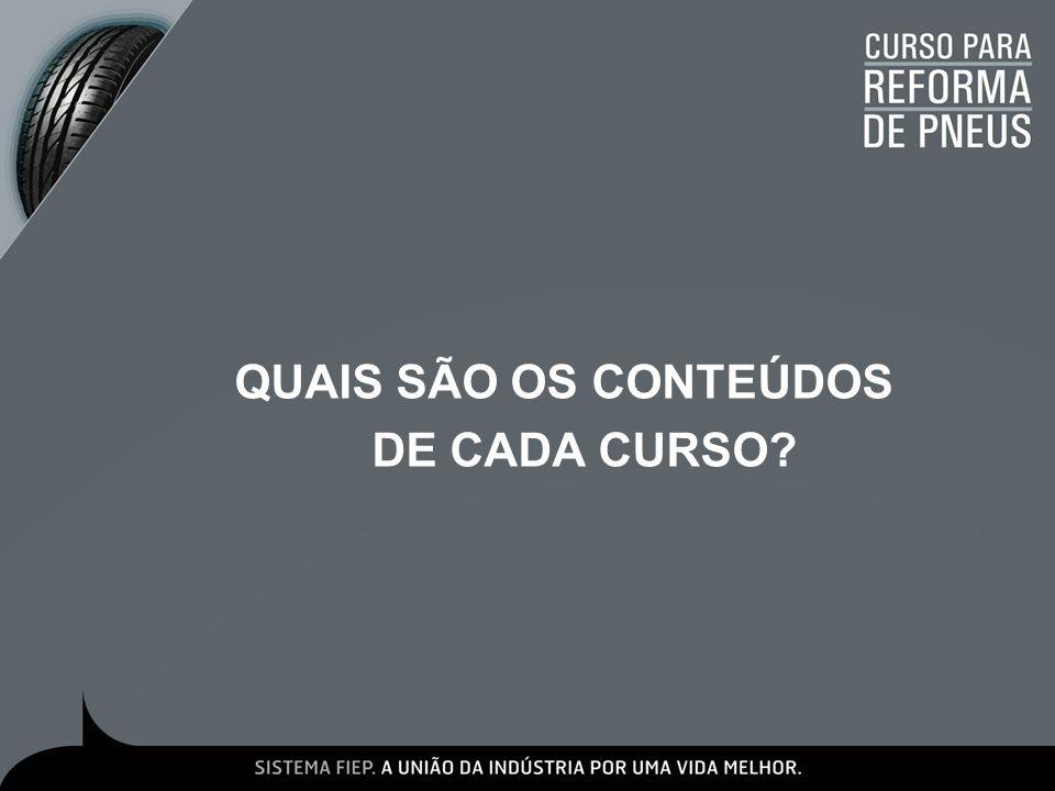 QUAIS SÃO OS CONTEÚDOS DE CADA CURSO?