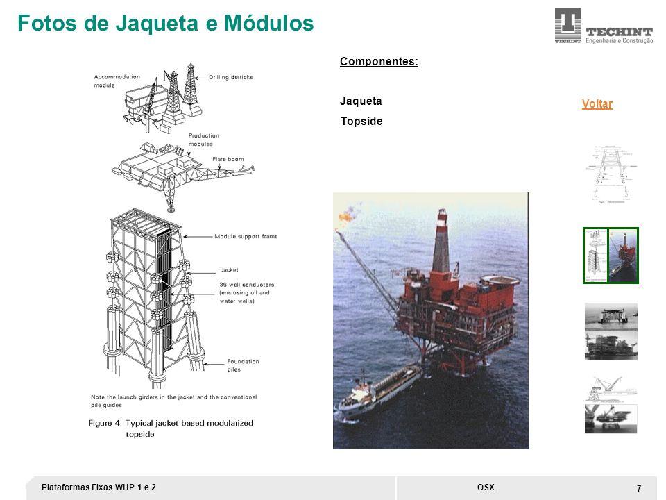 Plataformas Fixas WHP 1 e 2 8 OSX Fotos de Jaqueta e Módulos Instalação da base do Topside Voltar