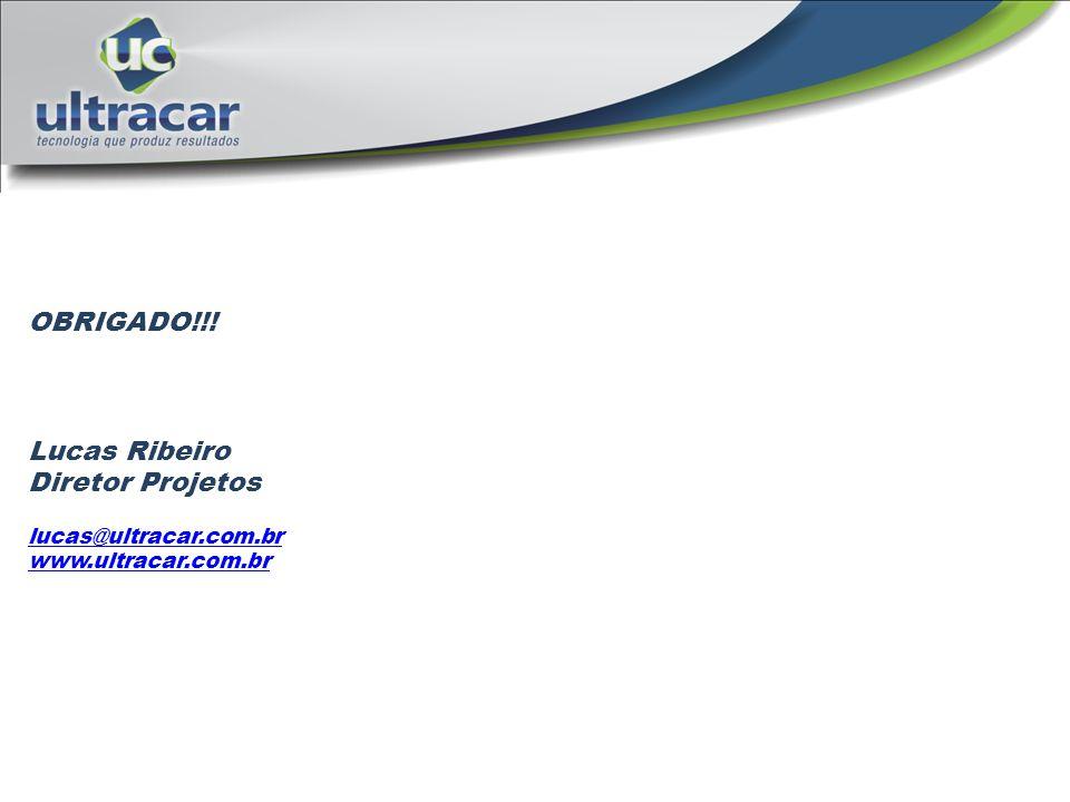 OBRIGADO!!! Lucas Ribeiro Diretor Projetos lucas@ultracar.com.br www.ultracar.com.br