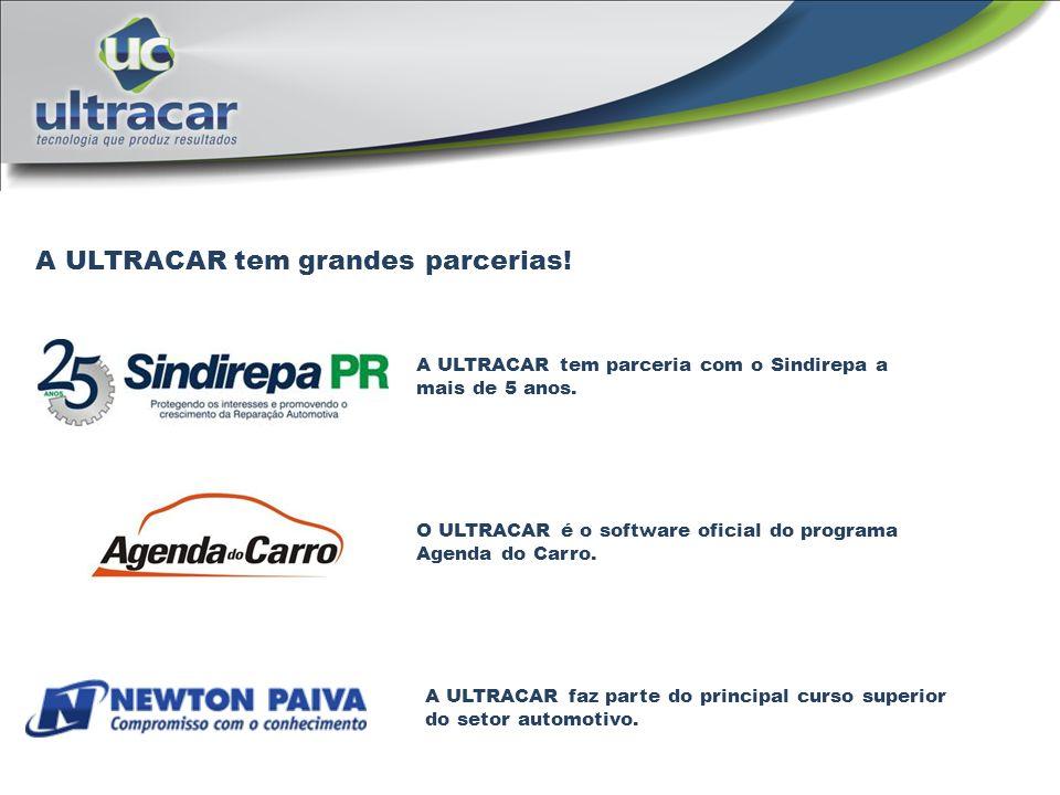 A ULTRACAR tem grandes parcerias! O ULTRACAR é o software oficial do programa Agenda do Carro. A ULTRACAR faz parte do principal curso superior do set