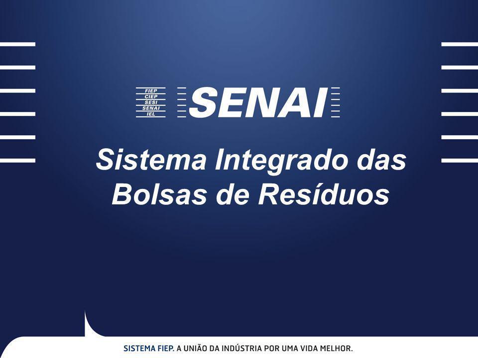 O Sistema Integrado das Bolsas de Resíduos – SIBR tem por objetivo principal fortalecer, em nível nacional, a simbiose industrial, através de um portal virtual que viabiliza o intercâmbio entre geradores de resíduos e demandantes de alternativas de matérias-primas, contribuindo para reduzir passivo ambiental e promover o desenvolvimento sustentável das indústrias brasileiras.