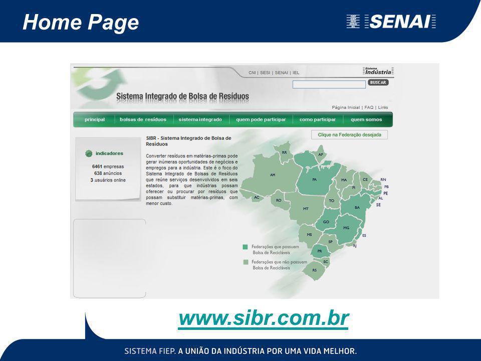 Home Page www.sibr.com.br