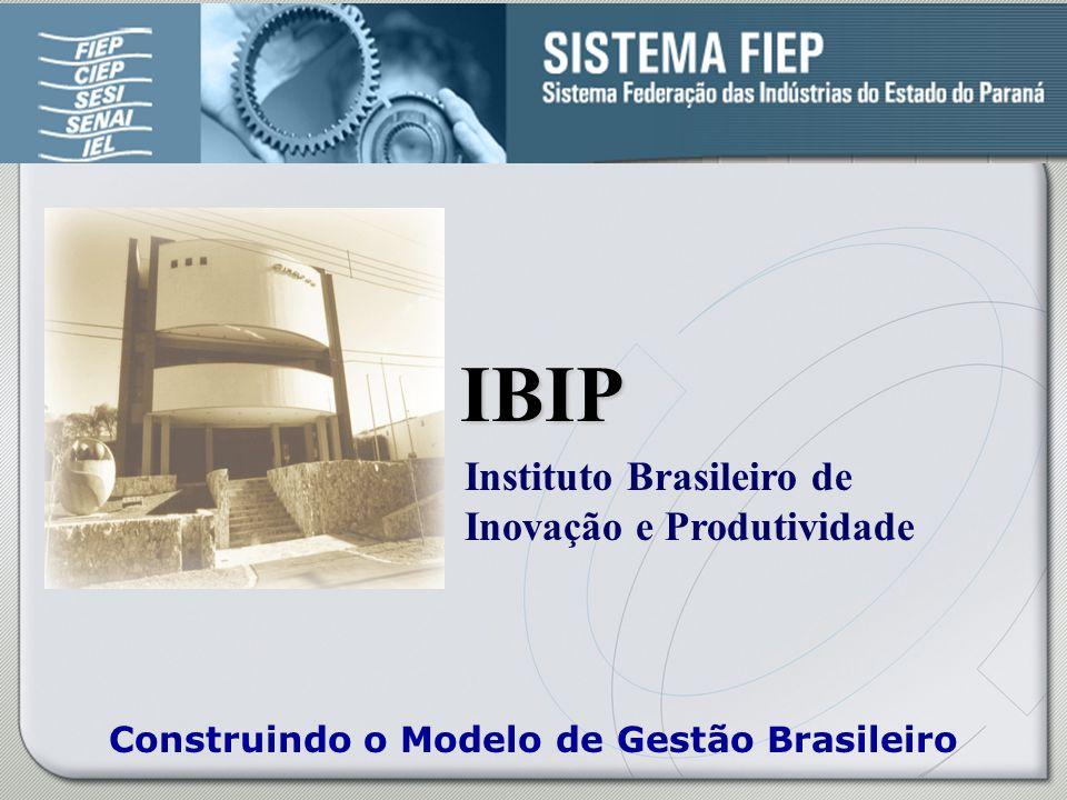 Construindo o Modelo de Gestão Brasileiro IBIP IBIP Instituto Brasileiro de Inovação e Produtividade Construindo o Modelo de Gestão Brasileiro