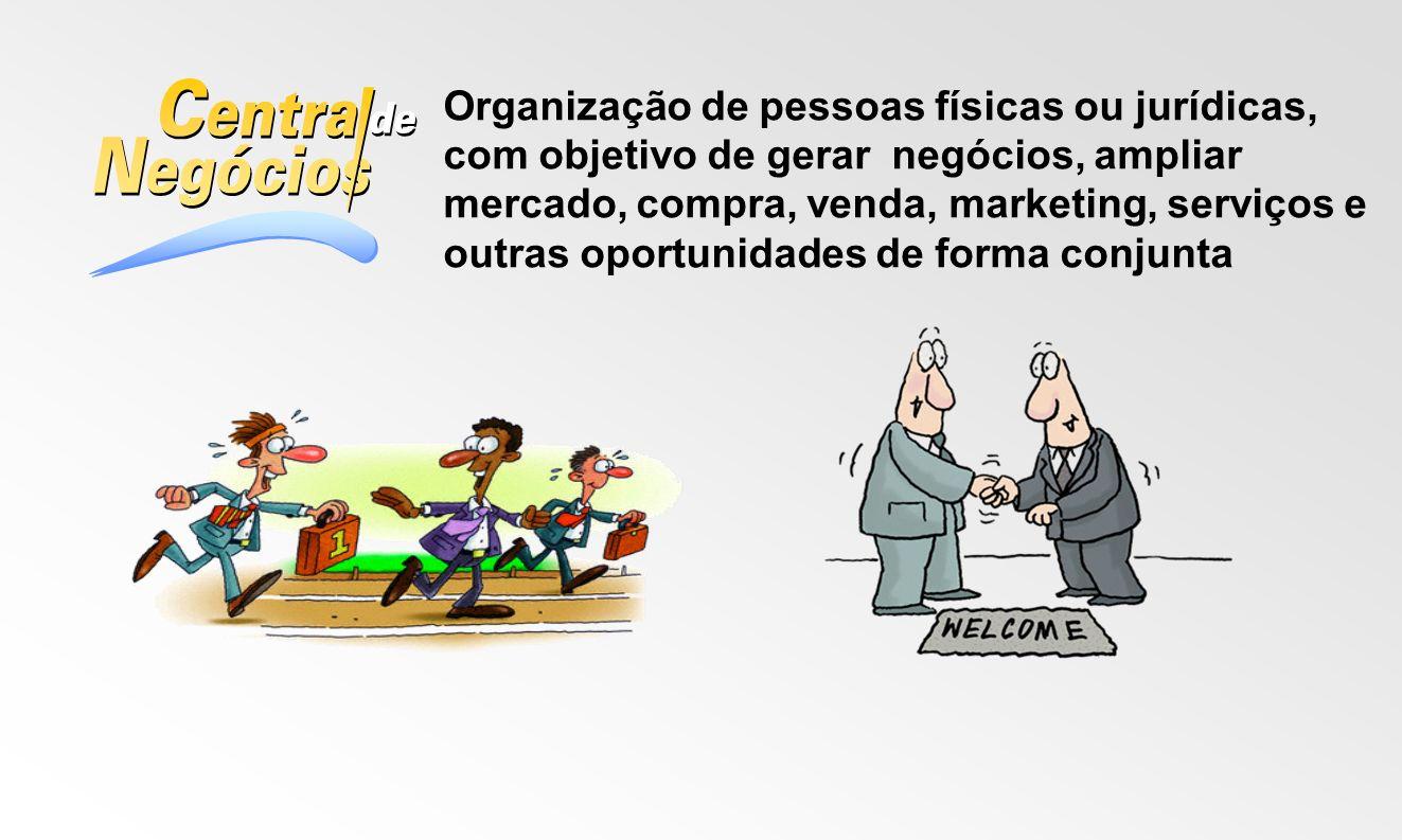 Organização de pessoas físicas ou jurídicas, com objetivo de gerar negócios, ampliar mercado, compra, venda, marketing, serviços e outras oportunidade