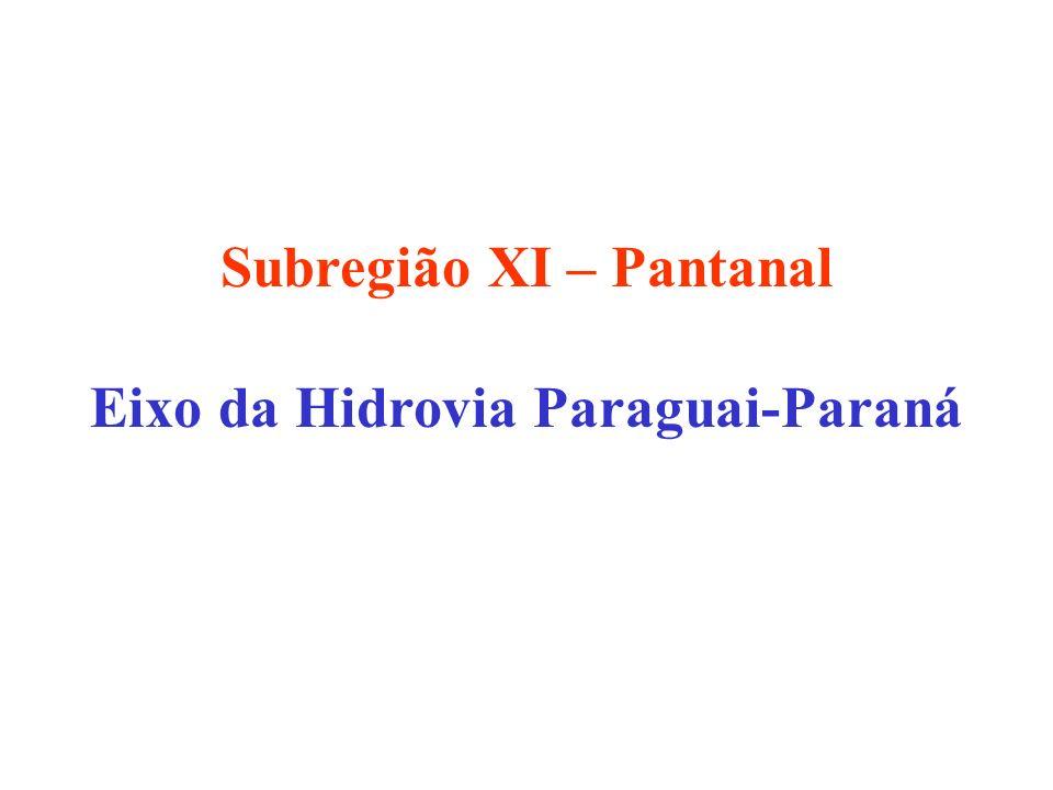 Subregião XI – Pantanal Eixo da Hidrovia Paraguai-Paraná