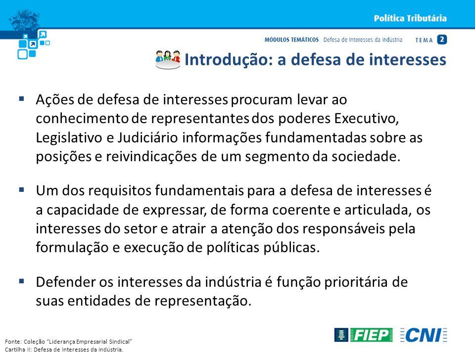Ações de defesa de interesses procuram levar ao conhecimento de representantes dos poderes Executivo, Legislativo e Judiciário informações fundamentad