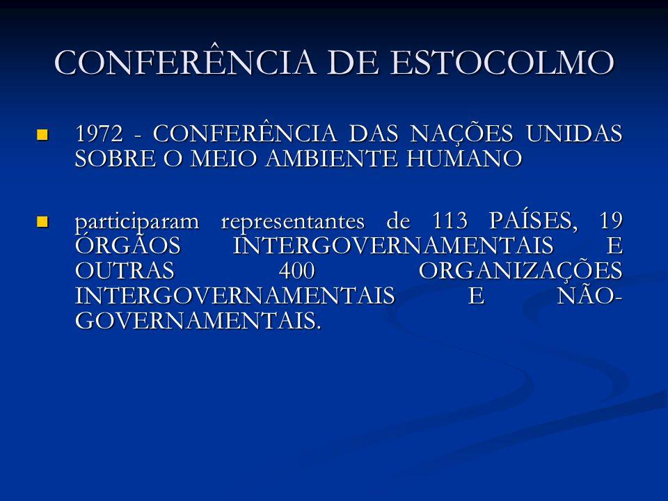 CONFERÊNCIA DE ESTOCOLMO 1972 - CONFERÊNCIA DAS NAÇÕES UNIDAS SOBRE O MEIO AMBIENTE HUMANO 1972 - CONFERÊNCIA DAS NAÇÕES UNIDAS SOBRE O MEIO AMBIENTE