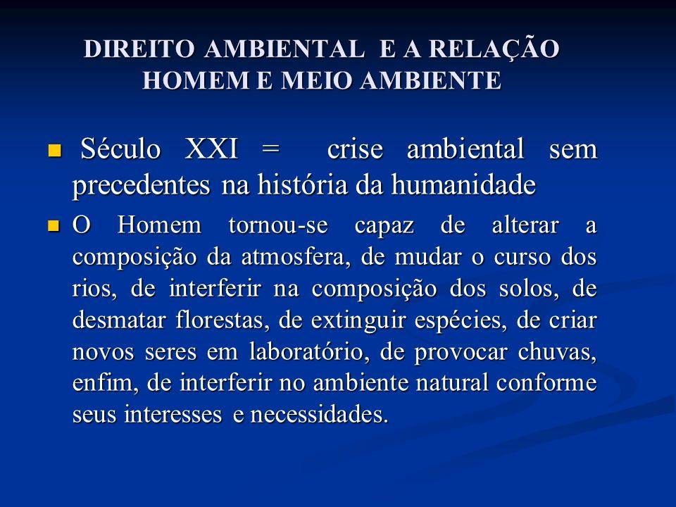 UMA NOVA COMPREENSÃO DO RELACIONAMENTO DO HOMEM COM A NATUREZA No final do século.