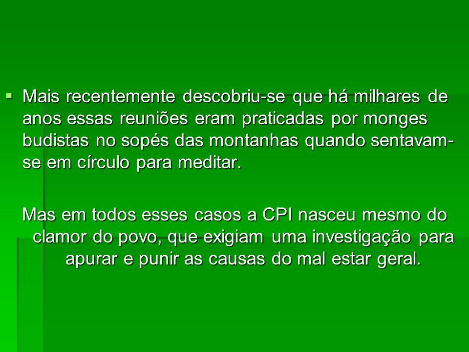 Principais CPIs da História do Brasil: CPI de PC Farias, que investigou denúncias de corrupção próximas ao presidente Fernando Collor, e terminou com a renúncia do mesmo (antes que o Senado decidisse pelo impeachment).