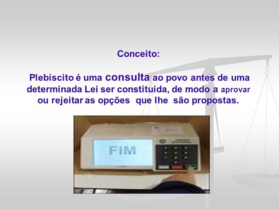Conclusão: A Lei n.º 9.709, de 18 de novembro de 1998, infelizmente, não viabilizou uma regulamentação sólida e ampliativa da participação popular no cenário político brasileiro.