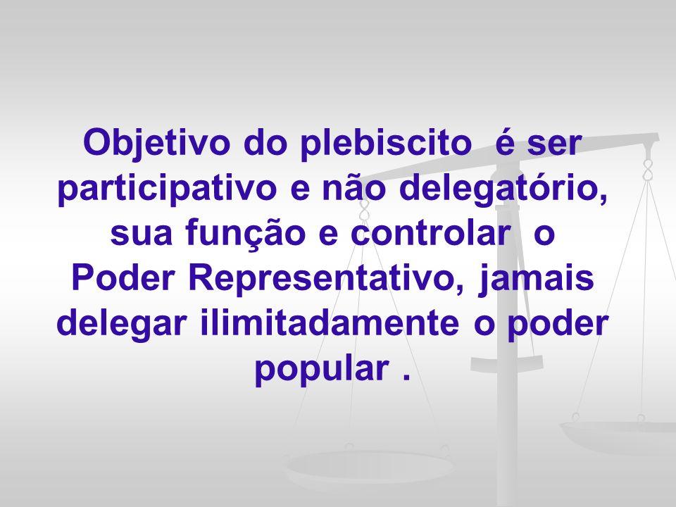 Para que a utilização do plebiscito, do referendo e da iniciativa popular seja uma realidade mais contínua em nosso país, sem dúvida é necessário o fortalecimento de uma cultura democrática mais participativa, função esta que tem na educação um papel essencial.